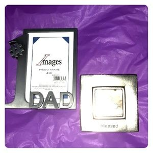 NEW Images #1 Dad & Mud Pie Pewter Photo Frames